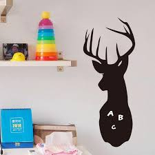 60 23cm pvc animal blackboard sticker deer shape chalkboard kids 60 23cm pvc animal blackboard sticker deer shape chalkboard kids room plate wall sticker office