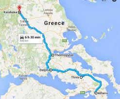 Meteora Greece Map by Delphi Greece July 2014 Svetanyc