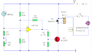photocell sensor automatic light control switch light sensor circuits optical sensor