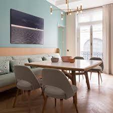 banquette cuisine sur mesure un appartement pile dans l air du temps table en chene eero