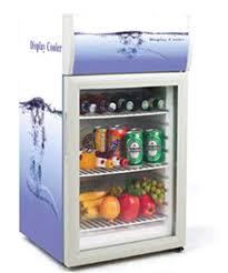 display refrigerator type desk top glass door small display fridge