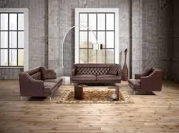 Modern Italian Leather Furniture Salotti Ulysses Modern Brown Italian Leather Sofa Set