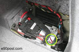 bmw e90 battery changing the battery