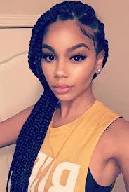image result for jumbo box braids ponytail braid ideas