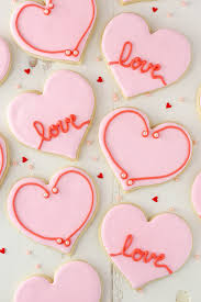 valentines day cookies s day heart cutout cookies and sugar