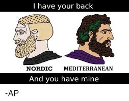 Meme Mediterranean - i have your back nordic mediterranean and you have mine ap meme