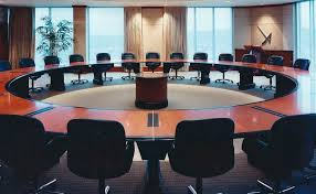 Circular Boardroom Table National Woodwork Custom Cabinets Kitchens Furniture Closets