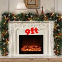 garlands with lights for fireplace decore