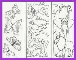 free bookmark coloring pages ci001 animal 3 color