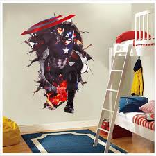 Captain America Bedroom by Online Shop Handsome Avengers Through Wall Stickers For Kids Rooms