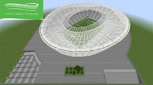 cape town stadium floor plan minecraft megabuild green point stadium cape town 2010 world