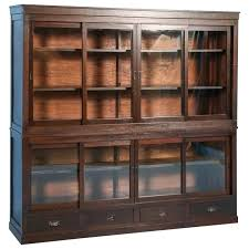 Bookcase Cabinet With Doors Bookcase With Sliding Glass Doors Juniorderby Me