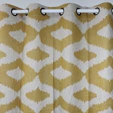 98 Inch Curtains Vezo Home Hexagon Geometric Linen Window Treatment Curtains Panel