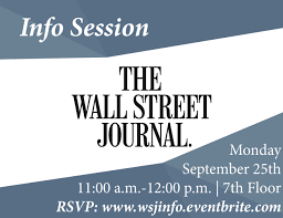 current job opportunities wall street journal info session nyu journalism