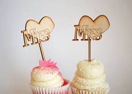 same wedding toppers cake toppers mrs mrs same cupcake toppers