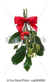 christmas mistletoe colorful christmas mistletoe isolated white