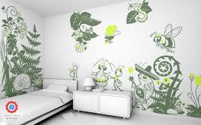 stickers geant chambre fille sticker cigale stickers bébés enfants e glue deco murale