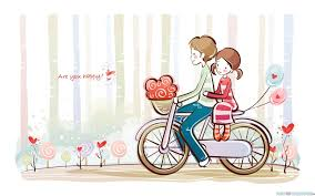 Cute Love Couple Quotes by Cartoon Love Images And Wallpaper
