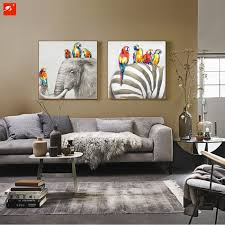 aliexpress com buy animal wall art elephant zebra abstract
