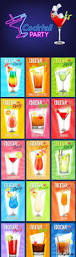 коктейли векторные флаеры cocktail party flyer 4 vector