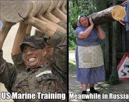 Us Marine Meme - us marine training meanwhile in russia memes