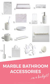 15 budget friendly marble bathroom accessories the sweetest digs