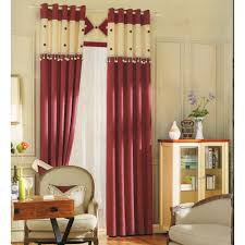 red curtain set chenille fabric modern curtains