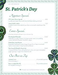 free wine list template holiday menu templates from imenupro more than just templates st patrick s day