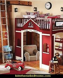 Firefighter Home Decorations Fire Engine Theme Beds Fire Truck Theme Beds Firefighter Kids