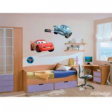 chambre mcqueen disney cars lightning mcqueen and fin mcmissile stickers