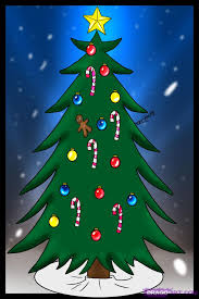 drawn christmas ornaments simple pencil and in color drawn