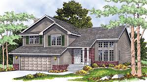 bi level house plans with attached garage split level house plans and split level designs at