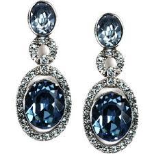 blue drop earrings givenchy earrings blue glass accent drop earrings polyvore