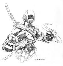 snake eyes gi joe coloring pages printable for free