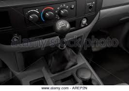 2006 dodge ram center console 2006 dodge ram 1500 st in blue front angle view stock photo