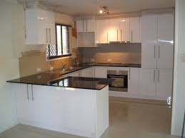 excellent tiny kitchen design displaying u shaped white high gloss
