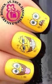 nail art water transfers stickers decals spongebob squarepants