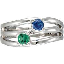 white gold mothers ring mothers ring stripe design 1 5 stones in 10k or 14k yellow or