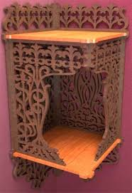 Wooden Shelf Bracket Patterns by Canopy Corner Bracket Scroll Saw Fretwork Pattern Of A Late Art