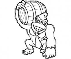 print mario donkey kong coloring pages download mario donkey