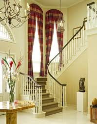 Curtains For Arch Window Curtains For Arched Windows Staircase Traditional With Tiled Floor