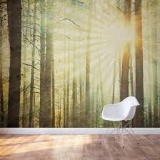 Girls Enchanted Forest Bedroom Tree Trunk Wallpaper Xz5dtz Enchanted Forest Mural Anthropologie