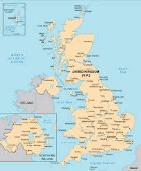 England On Map United Kingdom Travelsfinders Com