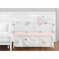 pink and gold crib bedding collection