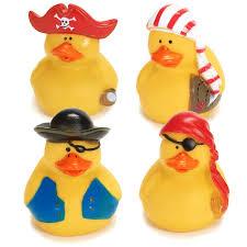amazon com fun express 12 mini pirate rubber ducks duckie ducky