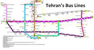 Green Line Metro Map by Tehran Brt Bus Map 2017