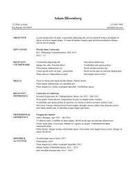 College Student Internship Resume Internship Resume Resume Templates