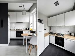 small kitchen interior small apartment in a scandinavian style of and decoration
