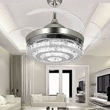 ceiling fan led light remote control colorled 3 circle crystal ceiling fans with lights