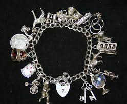 solid silver charm bracelet images Stunning ladies solid silver charm bracelet 18 charms jpg